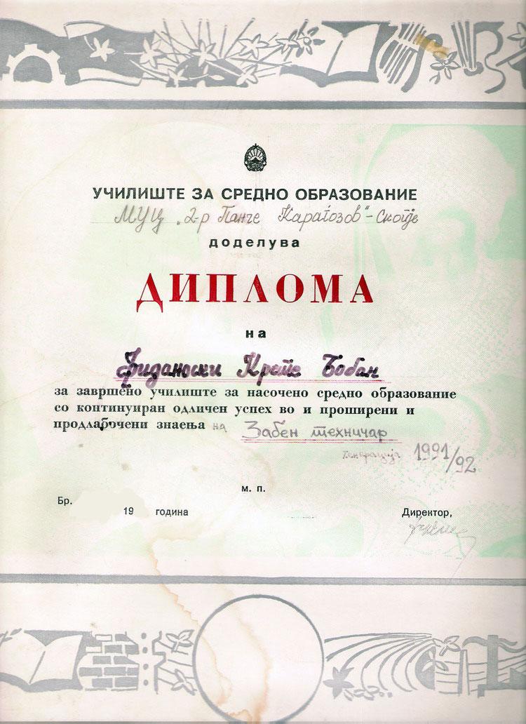 dr  boban fidanoski  dmd - resume